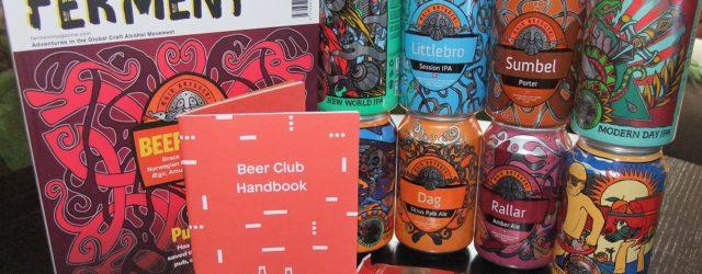 Photograph of the Beer52 Norwegian beer box unpacked