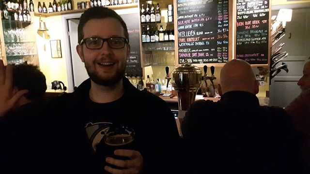 Drinking an Even More Jesus in Ølbaren, Copenhagen