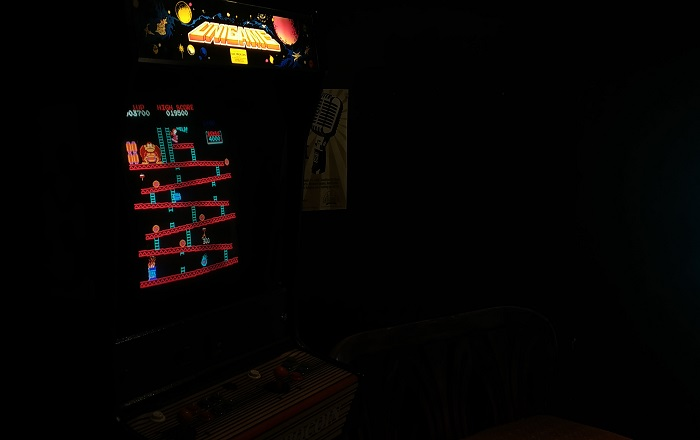 Arcade machine featuring Donkey Kong